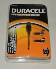 Duracell USB Cell Phone Charger (iPhone,iPad,LG,HTC,Nokia,Samsung,Blackberry)