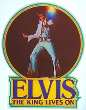 Vintage 1977 Elvis The King Lives On Iron On Transfer King Of Rock & Roll