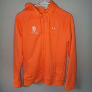 Under Armour Wounded Warrior Project Hoodie Sweatshirt Fluorescent Orange M
