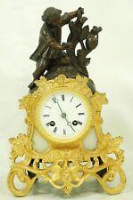 Stupendi fuoco-placcati oro Orologio Camino circa 1849 con filo-sospensione.