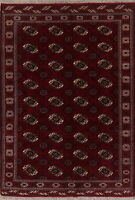 Balouch Afghan Geometric Area Rug All-Over Hand-Knotted Oriental Carpet 7'x10'