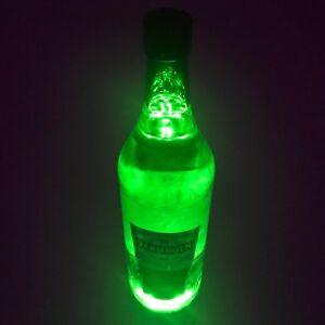 LED Bottle & Glass Light Coaster Sticker Bar Drinks Party - UK Stock