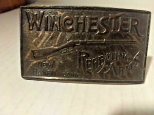 Winchester Repeating Arms Belt Buckle  Brass  #809  Pre-Owned