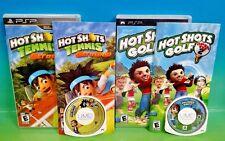 Hot Shots Tennis Get a Grip & Golf Open Tee 2 - PSP Playstation Portable 2 Games