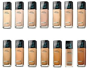 MAYBELLINE Fit Me! Matte + Poreless Foundation (Glass) 30ml - CHOOSE SHADE - NEW