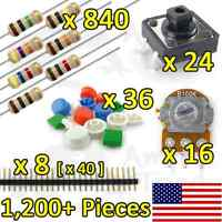 1,200+PCS Resistor Kit Variety Pack for Arduino, TTL, Raspberry Pi, Breadboard