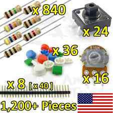 1,200+PCS Resistor Kit Variety Pack for Arduino, TTL, Raspberry Pi, Breadboard