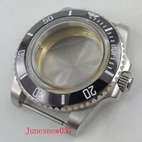40mm Brushed Watch Case With Bezel Fits For ETA 2836 Miyota Automatic Movement