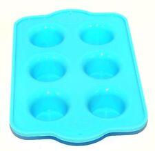 Mini Muffin Molde de Silicona Molde de horno para pan de la Magdalena Antiadherente Bandeja Azul