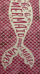 Mainstays Beach Towel, Mermaid Tail Print