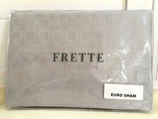 "FRETTE EURO Continental Fashion SHAM City Grey Cliff 26x26"" 100% Cotton $325 NEW"