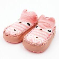 Bebé chicos chicas recién nacido botitas zapatos Azul Rosa Suave Tortuga Peces