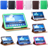 "Rotating PU Leather Case Cover For Samsung P5200 Galaxy Tab 3 10.1 10.1"" Tablet"