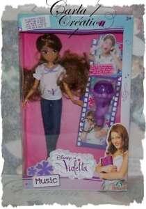 Poupée Disney Violetta Love Passion Music Et Micro Chante Et Enregistre Ta Voix