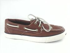 CONVERSE Jack Purcell Boat Shoes Brown Leather Sneakers Men's 6.5 Women's 8 RARE
