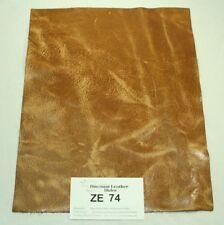 "Beautiful ""Iowa Farmer"" Tan Craft Leather Piece 9.5"" x 12"" ZE74-9512"