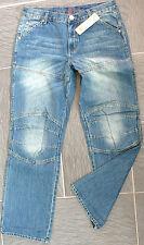 Youman Denim Jeans 50 Regular Fit W33 L32 Geile Blue Used Waschung Pant Hose NEU