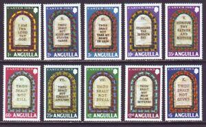 Anguilla 1983 SC 526-535 MNH Set Easter Ten Commandments