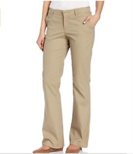 Dickies Women's Stretch Twill Pant Stain Resistant Slim Fit Bootcut Khaki Size 1