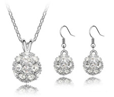 Womens Round Jewellery Sets made with Swarovski Elements Crystal Christmas