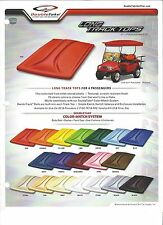 "EZGO, Club Car, Yamaha  Golf Cart Extended Top Four Pass 80"" Top  in 16 Colors"