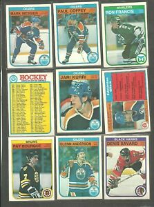 1982-83  O-PEE-CHEE OPC Hockey lot starter  SET 293  CARDS WAYNE GRETZKY