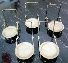 Set of five CUP and & SAUCER STAND Brass Etch Base Display holder