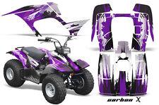 Atv Kit Grafica Quad Decalcomania Wrap per Yamaha Breeze 125 89-04 Carbonx pur '