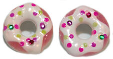 CUTE BLING DONUTS DOUGHNUTS STUD EARRINGS (S177)