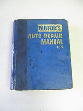 Motors Auto Repair Manual 1972 35th Edition 629.28 ISBN 0910992037