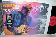 """Dave Edmunds Live I Hear You Rockin LP VG+ Vinyl """"Shrink/Song Sticker/Pic Sleeve"""