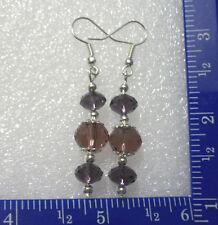 Amethyst colored bead earrings