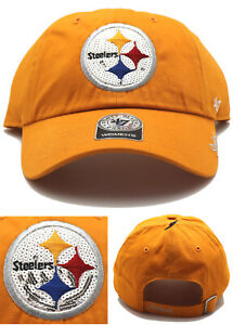 Pittsburgh Steelers New 47 Brand Ladies Women Sparkle Gold Yellow Hat Hat Cap