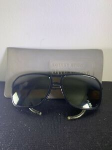 VUARNET Skilynx Glacier Acier Black Sun glasses w/ Case France Vintage