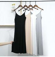 Women Long Cami Slip Dress Camisole Under Dress Liner Nightgown Sleepwear