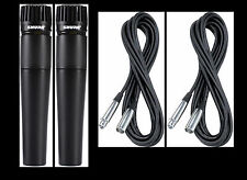 (2) New Shure SM57 Mics and Cables Authorised Dealer Make Offer Buy It Now!
