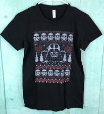 Star Wars Darth Vader Storm Trooper Ugly Christmas Sweater TShirt BOYS SZ M X30
