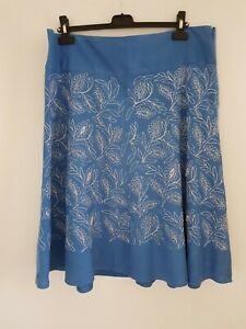 LADIES  GORGEOUS MONSOON SPRING SUMMER EMBROIDED SKIRT SIZE 16 GREAT CON