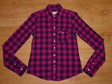 Women's Hollister Multi Check Long Sleeve Fine Cotton Shirt Top Size XS UK 6