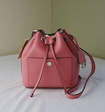 Michael Kors Coral Pearl Grey Greenwich Small Drawstring Bucket Bag