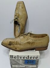 Belvedere Florence Foggia Genuine Ostrich Dress Shoes Ivory Size 15 M