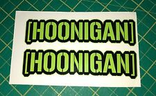 2 x HOONIGAN 180mm Car Decal Vinyl Sticker JDM EURO DUB Ken Block Free U.K. Post