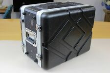 6U 6RU 19-Inch ABS Rack Pro Audio Case Roadcase Dual-Sided zip storage space