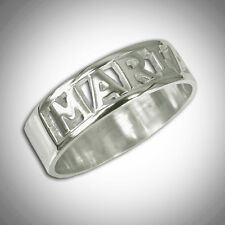 Name Ring Monogram Initial Custom Engraved Personal Band Word STERLING SILVER