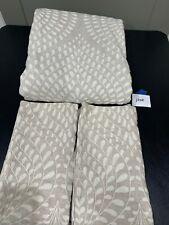 Restoration Hardware Palmette Embroidered Linen King Duvet Cover and Sham Set