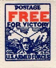 """RJames: US """"Postage Free for Victory"""" Armed Forces stamp of 1942, MNH, VF"""