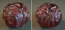 Very Fine Amber Color Translucent Resin Chinese Animal Zodiac Ball