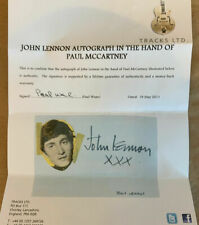 THE BEATLES / JOHN LENNON GENUINE HAND-SIGNED BY PAUL MCCARTNEY!
