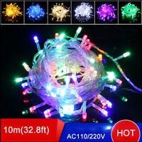 10m 50 LED Christmas Tree Fairy String Party Lights Garland Holiday Xmas Lamp