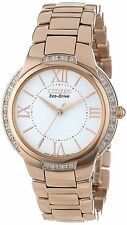 Citizen Eco-Drive Women's EM0093-59A Ciena Diamond Bezel Rose Gold Watch